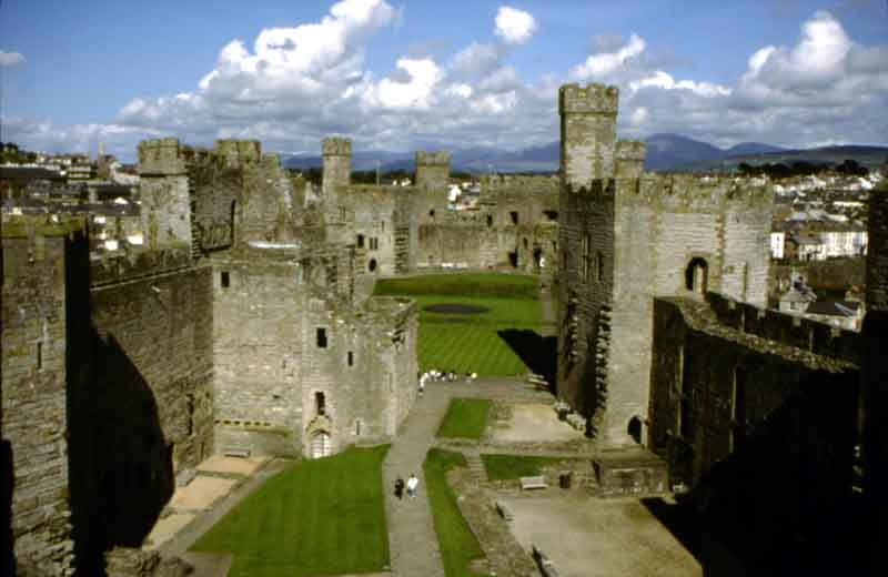 Caernarfon Castle - site of the Investiture of Charles, Prince of Wales in 1969