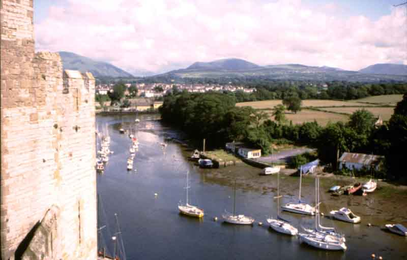Caernarfon's river from the Castle walls