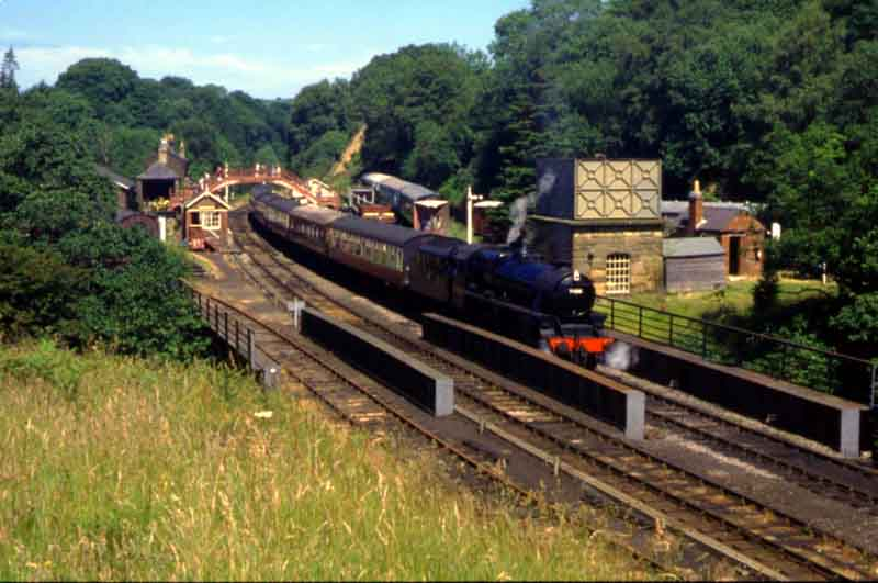 Mid-point of the North York Moors railway.