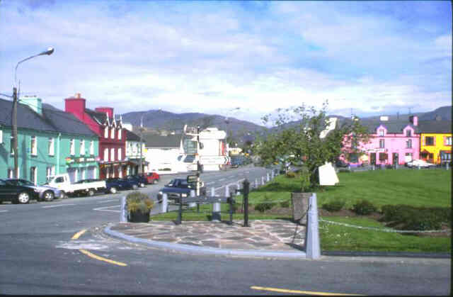 Pretty village of Sneem on the Ring of Kerry