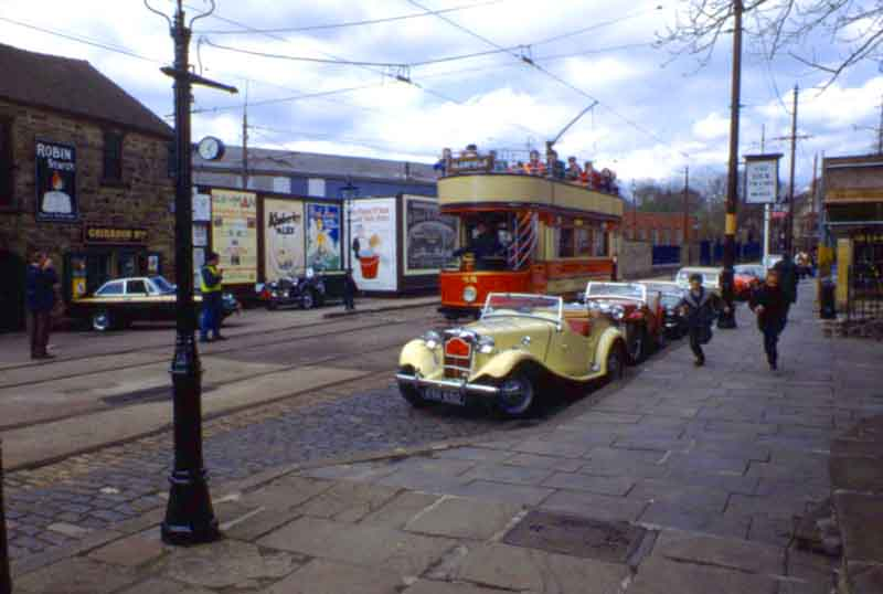 'Main street' at Crich tram museum.
