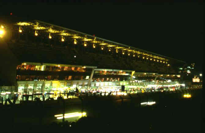 The pits by night