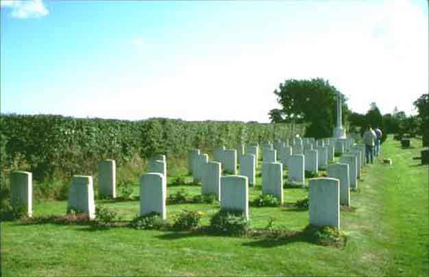 War graves near the end of Coltishall runway.