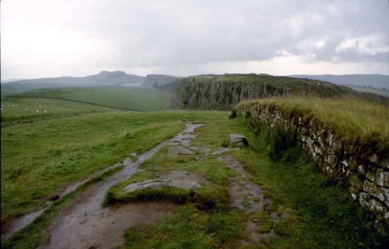 A section of Hadrians Wall
