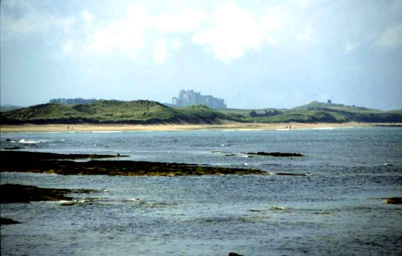Bamburgh Castle from Seahouses on a fine evening